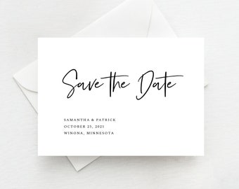Save the Date Template Minimal and Modern, Instant Download, Printable, 148