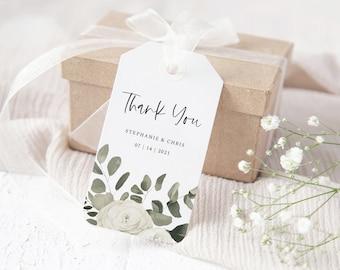 Eucalyptus Greenery Wedding Favor Tags Template, Wedding Favor Labels, 151