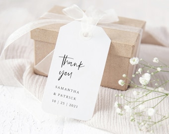 Minimalist Wedding Favor Tags Template, Wedding Favor Labels, 148
