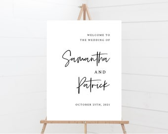 Minimal Wedding Welcome Sign Template, 148