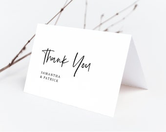 Minimalist Thank You Card Template, Folded Thank You Card, Instant Download, 148