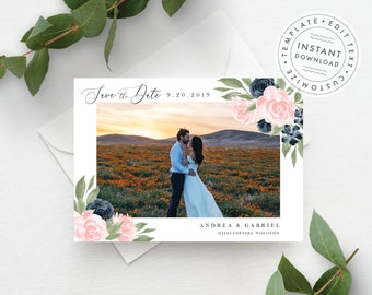 Photo Save the Date Template 137V1WED