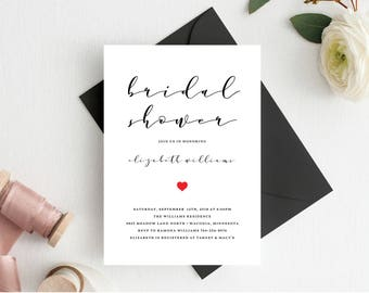 Bridal shower invitations templates, Bridal shower invitation templates,  Printable, Wedding Shower Template, Invite, Instant Download, 104