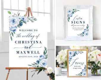 Welcome to Our Wedding Sign Template, Bundle, Printable Welcome Sign, Wedding Welcome Signs, Instant Download, Welcome Signs, Templett, 118