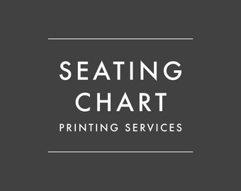 ADD-ON ONLY - Order Printed Seating Chart Sign