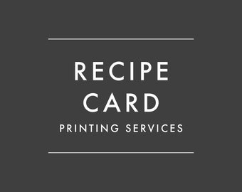 ADD-ON ONLY - Order Recipe Cards