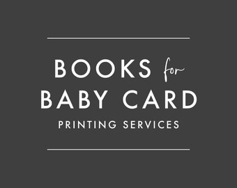 ADD-ON ONLY - Order Books for Baby Card