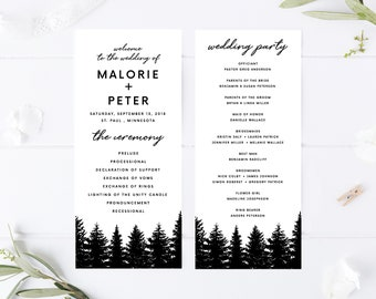 christmas wedding programs etsy