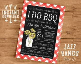 printable i do bbq couples shower invitation template diy printable couples shower invitation wedding shower invite barbecue party