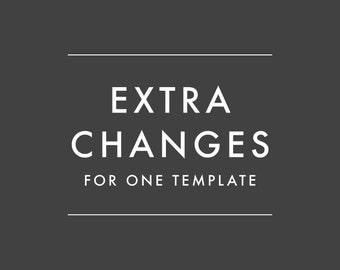 ADD-ON ONLY - Extra Change for Personalization Orders Only