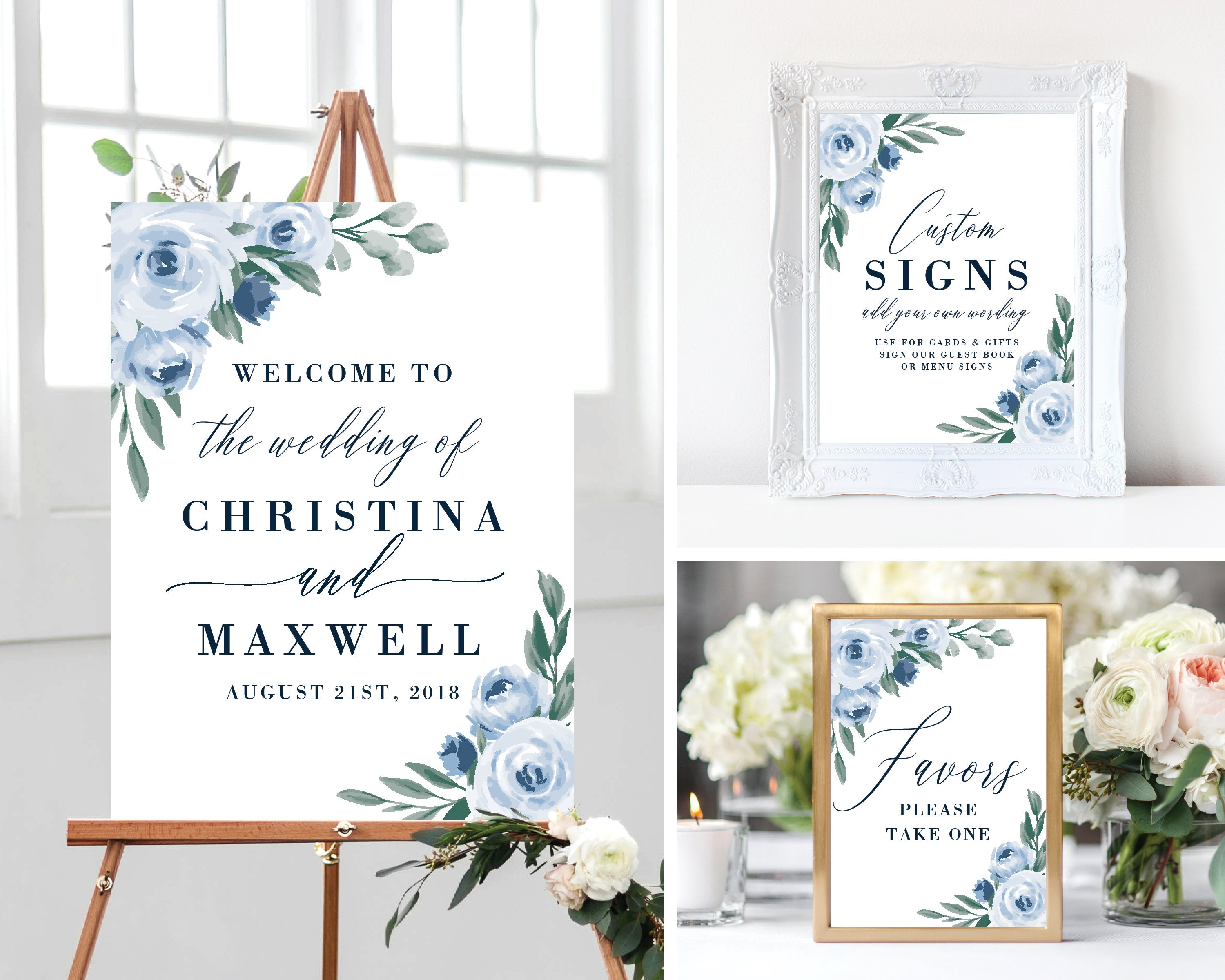 image regarding Welcome Sign Template known as Welcome toward Our Marriage ceremony Signal Template, Package deal, Printable