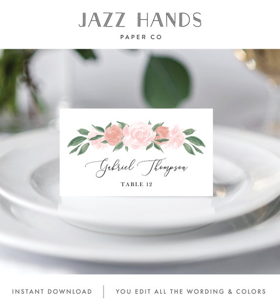 and Table Numbers 137V13 Place Cards Menu Wedding Day Bundle with Pink and Coral Floral Includes Wedding Program