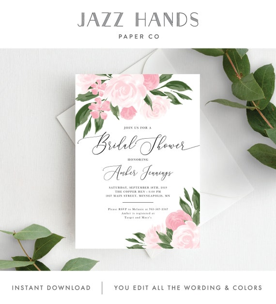 Eucalyptus TRY BEFORE You BUY Greenery Invitation Wreath Invitation Diy Bridal Shower Invitation Template Printable Instant Download