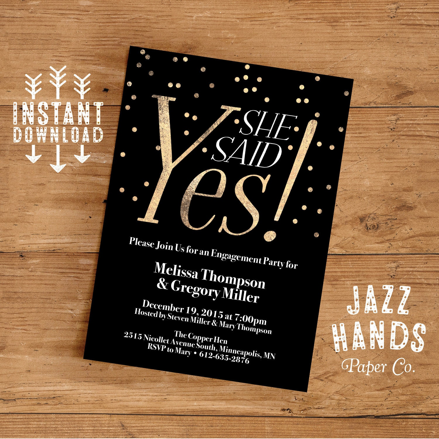 Printable Engagement Party Invitation Template DIY Engagement
