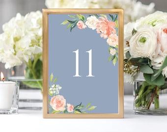 Wedding Table Numbers, Printable Table Numbers, Table Number, Table Number Template, Wedding Template, PDF, Instant Download, 1-20, 109