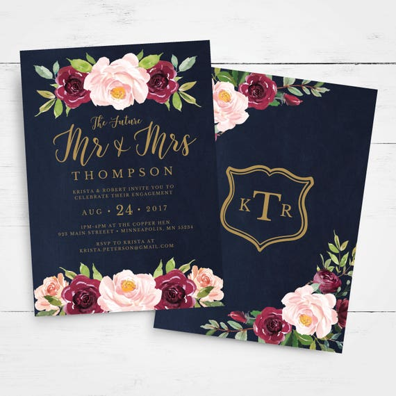 Engagement Party Invitation Template, INSTANT DOWNLOAD ...