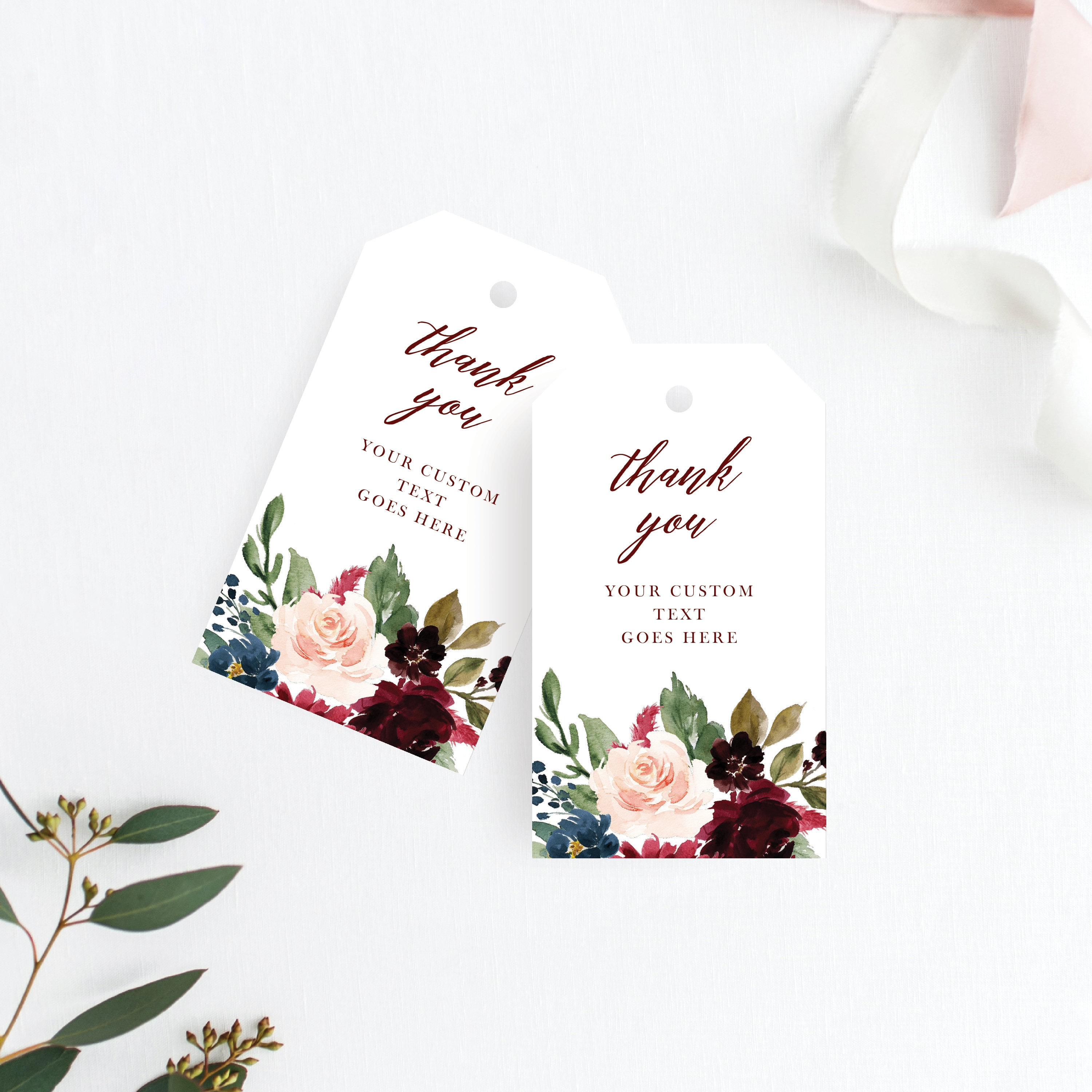 Wedding Thank You Tags Wedding Favor Tag Thank You Tag Rustic Thank ...