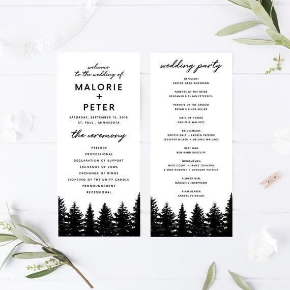 wedding program template wedding programs template printable