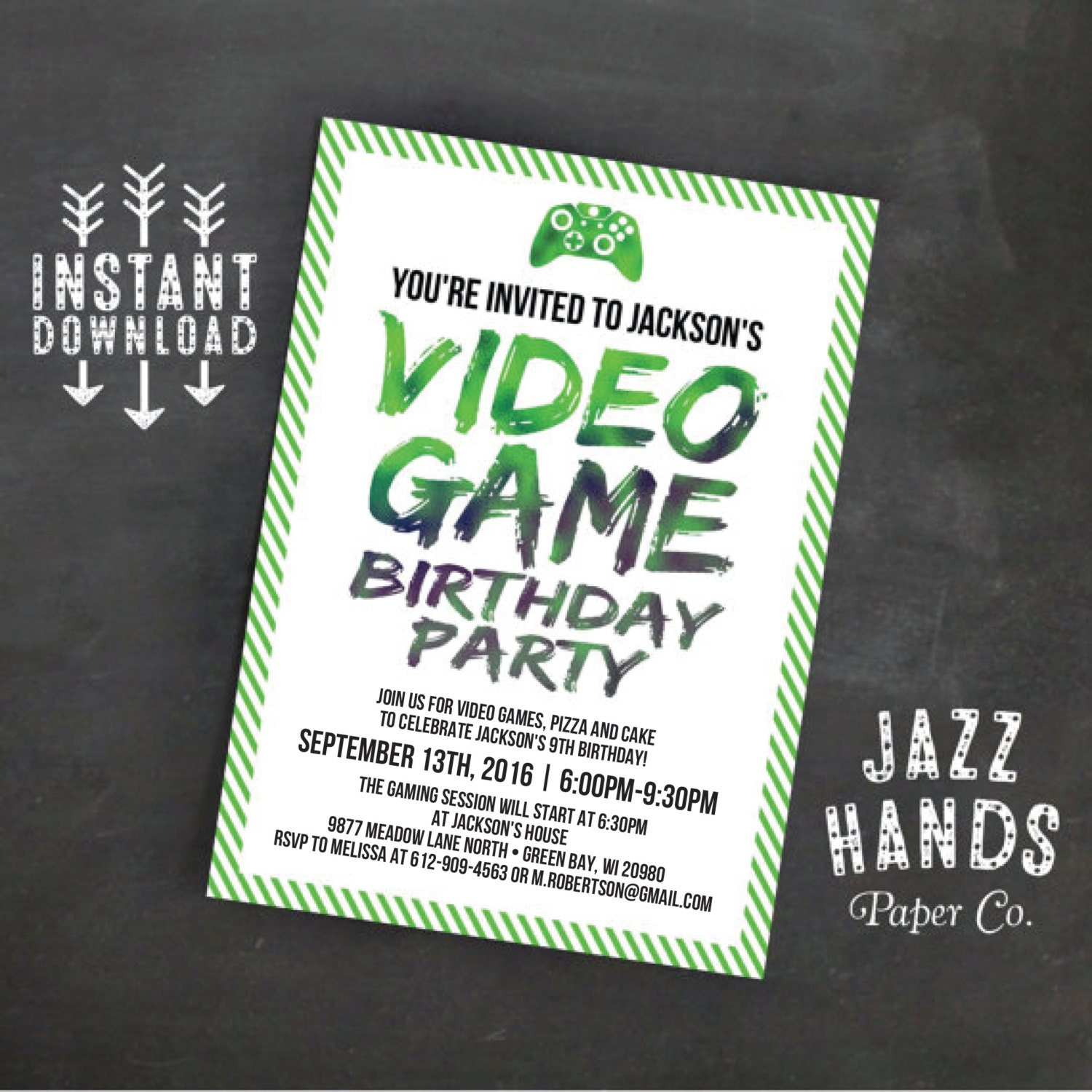 Video game party invitations video game party invitations for.