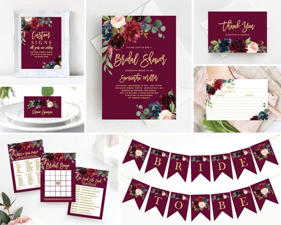 fd2aa4362e0 Bridal Shower Invitation Template Bundle