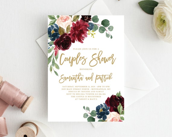 a24a0988ee6 Couples Shower Invitation Template