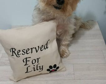 Personalised Dog Pillow Dog Cushion Gift Present 20x 20cm
