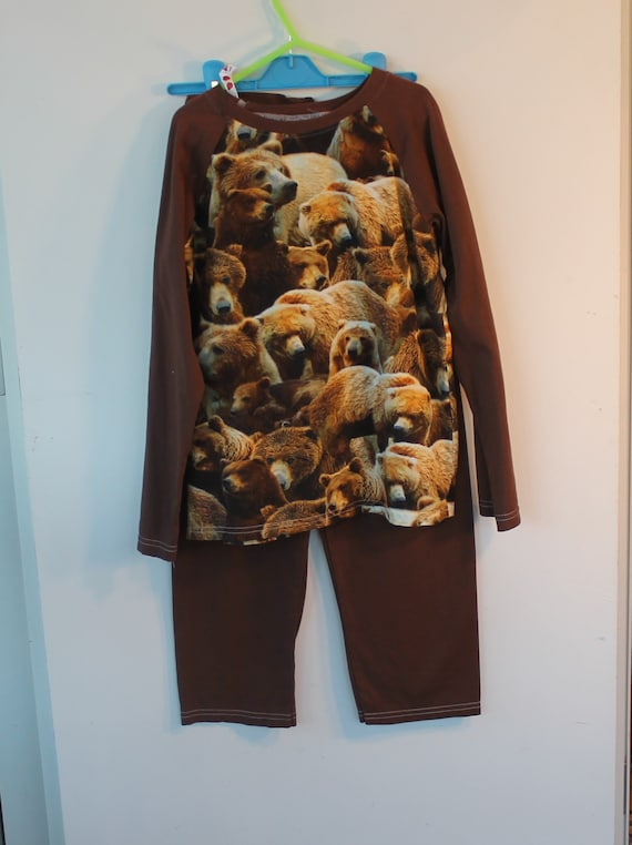 c20a0c2ade77 Age 8 yrs PJs featuring Grizzly Bears. Baseball style gift
