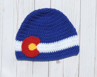 0b08b4d0a44 ... shopping crochet colorado flag hat colorado beanie newborn hat baby hat  toddler hat child hat teen