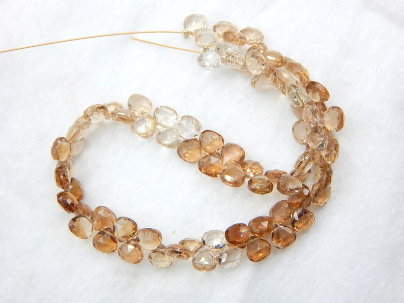 Imperial Topaz Faceted Heart Beads Golden Topaz Beads 100/% Natural Gemstone Size 5.5x5 mm Approx.