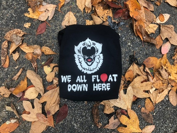pennywise shirt we all float down here georgie scary movie etsy