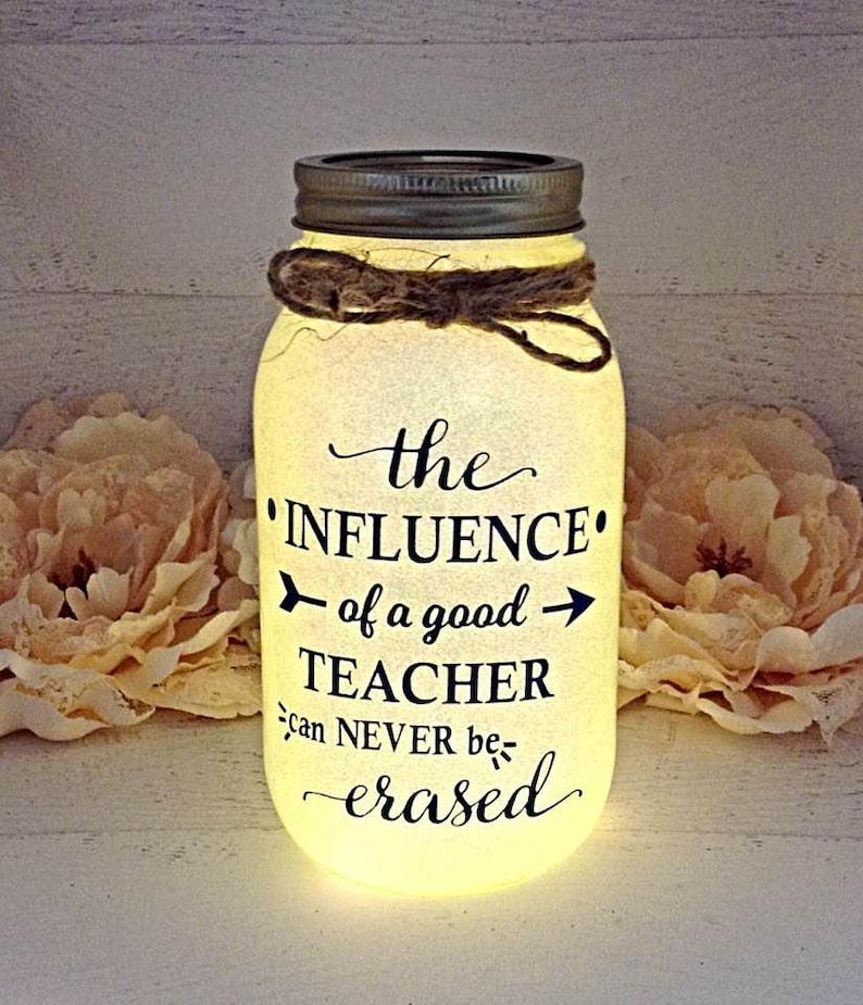Personalized Teacher Gift Christmas Teacher Gift Thank You Gift Teacher Nite Light Teacher Appreciation Gift Mason Jar Light