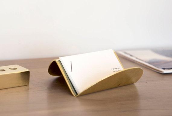 Gold Visitenkartenhalter Modernes Home Deco Einzigartige Geschenke Für Männer Oder Frauen Geschenk Für Freund Oder Kollegen Geschenk Modern