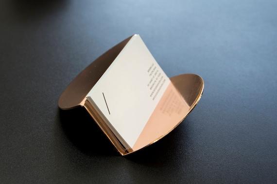 Moderne cuivre porte carte or rose accessoire de bureau cadeau