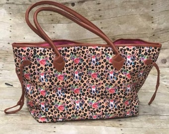 57c6ed1f5091 leopard bag, cheetah bag, serape bag, serape tote, travel bag, southwest bag,  Monogram duffel, personalized bag, serape print, Mexican print