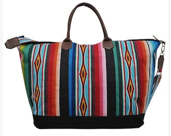 bec538fcdb8a serape bag, serape duffel, saddle blanket, travel bag, southwest bag,  Monogram duffel, personalized bag, serape print, mexican print
