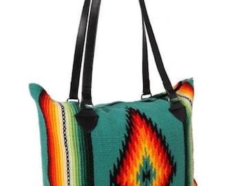f701a0ec1529 serape bag, serape tote, saddle blanket, travel bag, southwest bag,  Monogram duffel, personalized bag, serape print, Mexican print