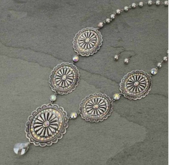 Concho Necklace Rodeo Jewelry Western