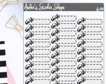 Cursive Work Boxes Planner Stickers