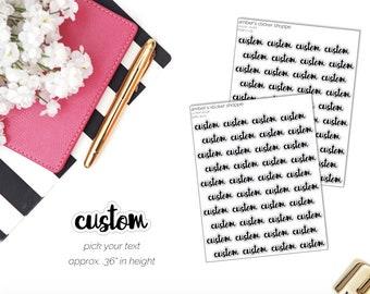 Custom - Cursive Lettering Script - Planner Stickers