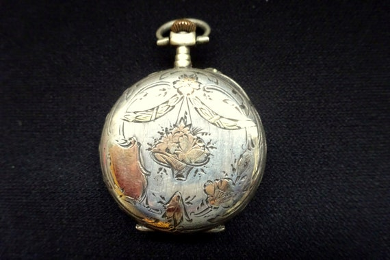 Art Nouveau Sterling Watch, Womens Victorian Watch