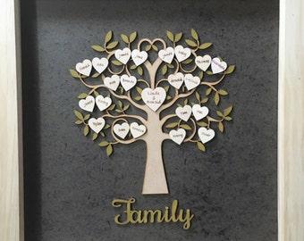 Albero genealogico personalizzato in legno personalizzati