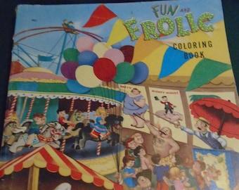 1955 Fun and Frolic Coloring Book