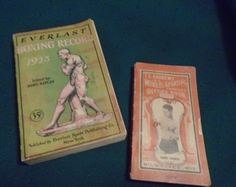 Pair of 1925 Sporting/Boxing Record Books