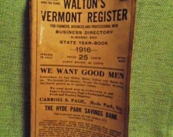 1916 Walton's Vermont Register