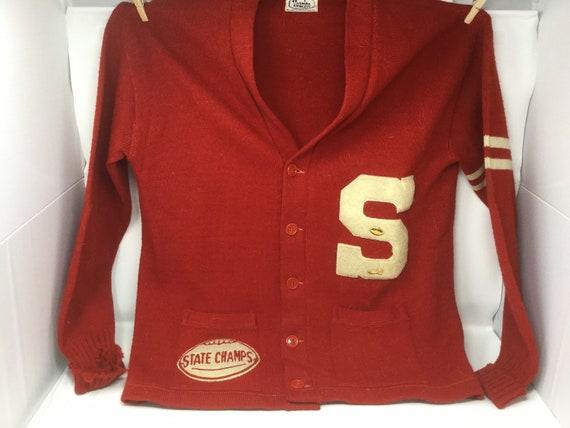 1950's Wool Sanford Maine High School Varsity Lett