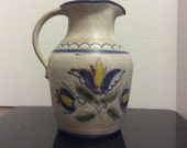 Pitcher Berkshire Pottery Hand Painted Vi tags 1980 39 s