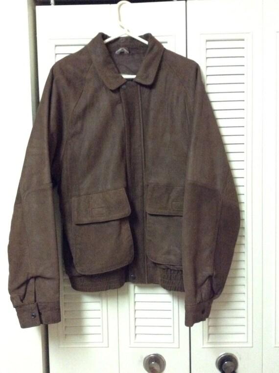 Men's Bomber Jacket Suede Leather
