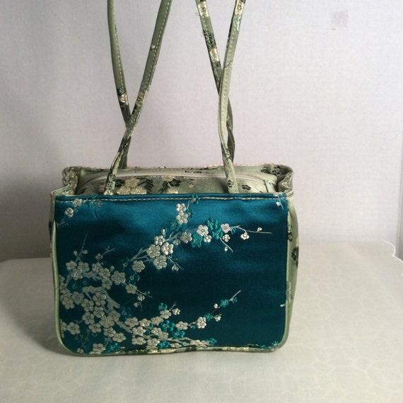 Handbag Silk Embroidered Oriental Design