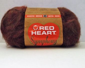 Red Heart Symphony Yarn ~ Redwood #4900 ~ 100 grams/3.5 ounces ~ 310 Yards ~ #4 Medium