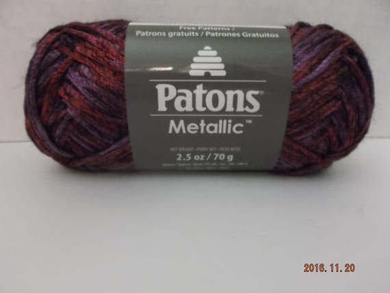 Patons Metallic Yarn Purple Rain Variegated 70 Grams25 Etsy